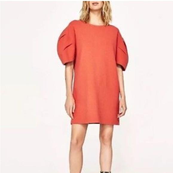 8f5c101c Zara women coral puff sleeve knit dress. M_5ae0c55aa825a64fc5988af8